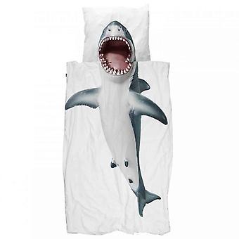 Snurk sengetøj haj 135 x 200 cm 100% bomuld