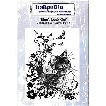 Indigoblu Blue's Look Out  - A6 Red Rubber Stamp