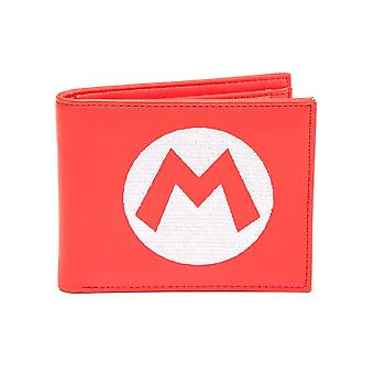 Super Mario Logo Red Bi-Fold Wallet