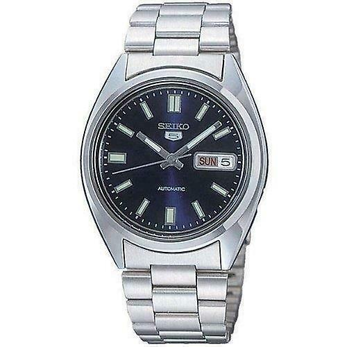 Seiko 5 Automatic Blue Dial Silver Stainless Steel Mens Watch