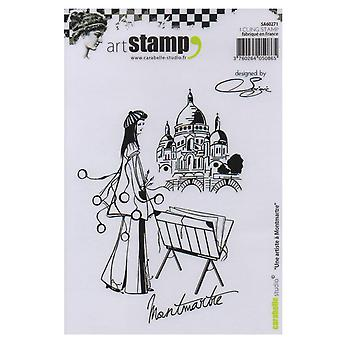 Carabelle Studio Cling stempel A6-Une Artiste A Montmartre door Soizic