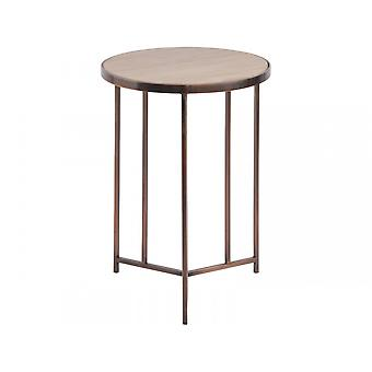 Libra Furniture Sandstone And Metal Side Table