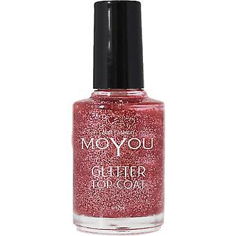 MoYou Stamping Nail Art - Special Nail Polish - Glitter Top Coat 12ml