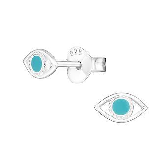 Auge - 925 Sterling Silber Plain Ohrstecker - W21401X