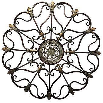 Fabelagtig metal Vægindretning med indviklet design, bronze