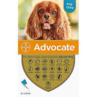 Advantage Multi (Advocate) Dogs 8.8-22lbs (4-10kg) - 3 Pack