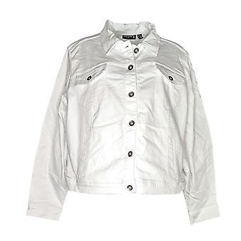 Susan graver vrouwen ' s plus stretch twill Jean jas wit A305883