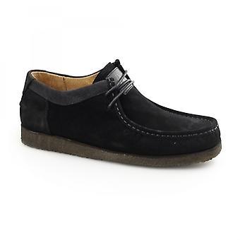 Hush Puppies Davenport lage heren suède schoenen zwart