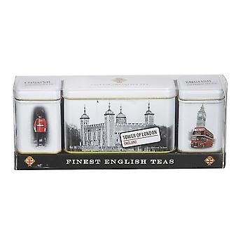 Finest english teas triple tea selection mini tin gift pack