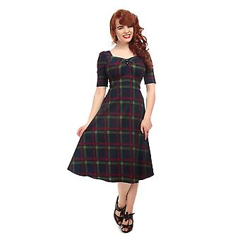 Collectif Vintage Women's Dolores Doll Darling Check Swing Dress