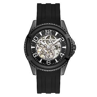 Elite W1268G1 gætter ur - urkasse og armbånd sort mand automatisk