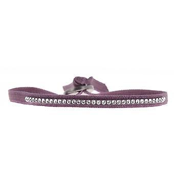 Bracelet Les Interchangeables A31695 - Bracelet Tissu Violet Cristaux Swarovski Femme