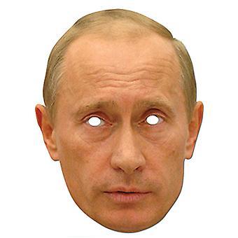 فلادمير بوتين الرئيس الروسي بطاقة حزب يتوهم قناع اللباس