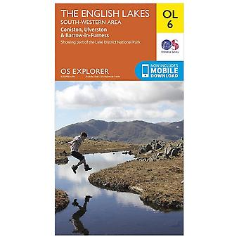Ordnance Survey Orange Explorer 6 Lake District - South Western
