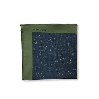 Jacob Cohen Pocket Square in blue/green/brown stripe design