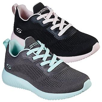 Skechers Womens 2021 Bobs Squad- Summer Haze Sport Fitness Knit Fabric Trainers