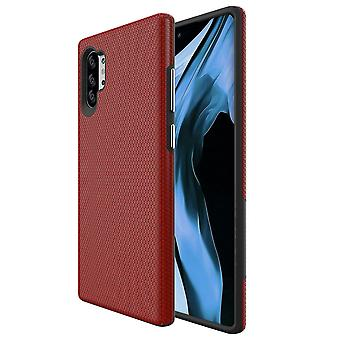 Für Samsung Galaxy Note 10 + Plus Rüstung Fall Stoßfest Slim Back Cover Rot