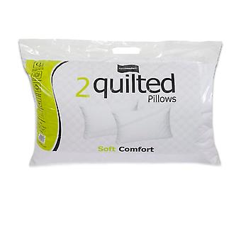 Easy Comfort Quilted Pillows (Pack Of 2)