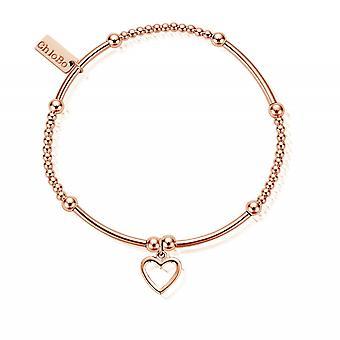 ChloBo RBCM1084 Women's Cute Mini Open Heart Bracelet