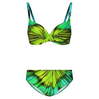 Féraud 3205024-10472 Frauen's Multicolor Aqua nicht gepolstert unterverdrahteten Bikini-Set