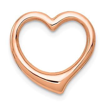14k Rose Gold 3 d Floating Love Heart Pendant Necklace Solid Jewelry Gifts for Women - 2.4 Grams