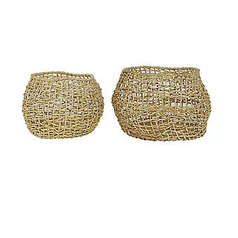 Light & Living Basket Set Of 2 37x26 And 50x31cm Dabong Natural