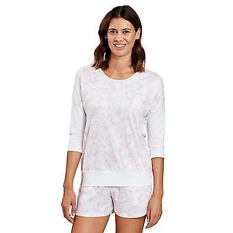 Rösch 1202032-16406 kvinner's vær glad hvit grafisk blomst pyjamas topp