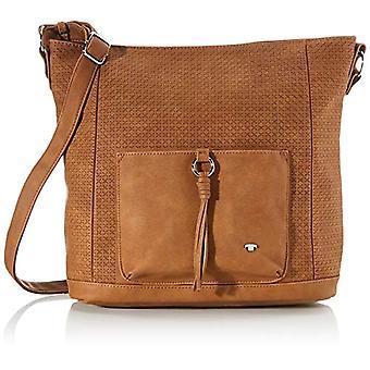 Tom Tailor Acc Livorno - Women Brown Shoulder Bags (Cognac) 32x34x14.5 cm (W x H L)