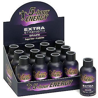 5 hr energi ekstra styrke drue-( 60 ml x 12 flasker )