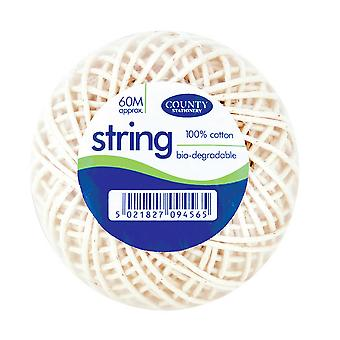 County Stationery Bio-degradable Cotton String Balls (Pack Of 12)