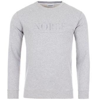 Norse Projects 'Vagn' Serif Logo Sweatshirt