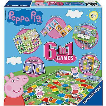 Ravensburger Peppa Pig 6 en 1 Games Box