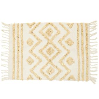 Sass & Belle Blanca Tufted Zigzag Rug