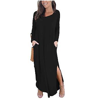 Ladies Side Slit Maxi Dress