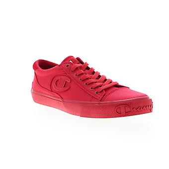 Champion Metro LO  Mens Red Canvas Lace Up Low Top Sneakers Shoes