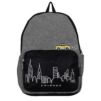 Vänner New York Skyline och Taxi Denim Ryggsäck