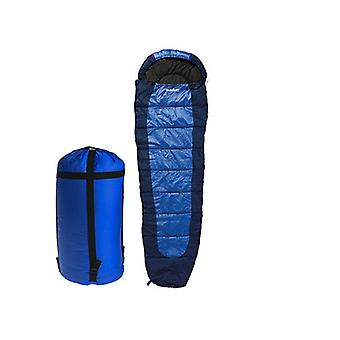 Summit Double Layer 350gsm Mummy Sleeping Bag - Dark Blue