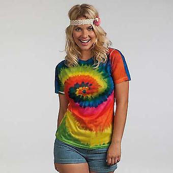 ColorTone Womens/Ladies manches courtes Rainbow Tie Dye T-Shirt