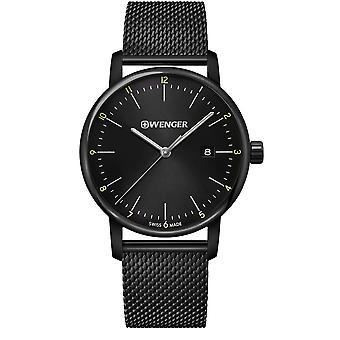 Wenger Urban Classic Quartz Black Dial Black Stainless Steel Bracelet Men's Watch 01.1741.137 RRP £169