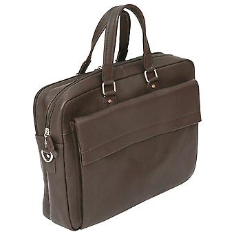 Felda RFID Colombian Genuine Leather Business Bag - Twin Handle Briefcase With Laptop & Tablet Pocket