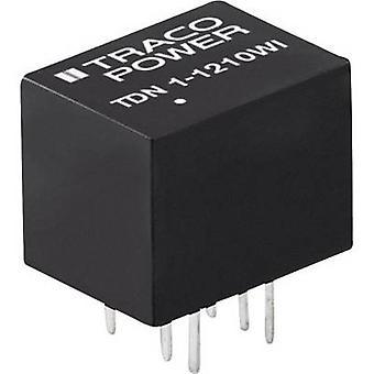 TracoPower TDN 1-4819WI Convertidor CC/CC (impresión) 48 V DC +9 V DC 112 mA 1 W No. de salidas: 1 x