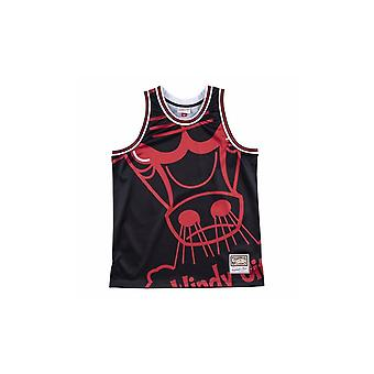 Mitchell & Ness Nba Big Face Jersey Chicago Bulls MSTKBW19068CBUBLCK universal summer men t-shirt