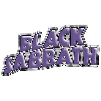 أسود السبت دبوس شارة كلاسيك الأرجواني باند شعار جديد الرسمية لابيل معدنية