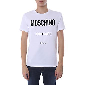 Moschino 070720401001 Men's White Cotton T-shirt