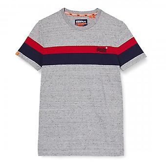 Superdry OL Classic YD Stripe T-Shirt Grey 9SS