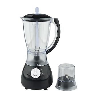 Herzberg HG-5008; Blender, Food Mixer, Smoothie Maker, Plastic Blender, 600W, 1.7L, 2 in 1 Zwart