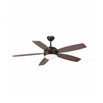 Ceiling Fan With Brown Light Vanu 1 Bulb