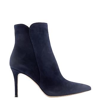 Gianvito Rossi G7032185riccasdenim Women's Blue Suede Ankle Boots