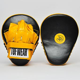 Tuf Wear Curved Focus Hook and Jab Pad Black /Yellow