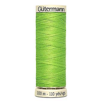 Gutermann sy-alle 100% polyester tråd 100m hånd- og maskinfarvekode - 336